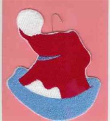 Santa Hat Ornament embroidery design