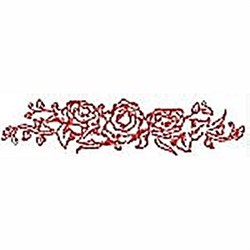 Red Roses Border embroidery design