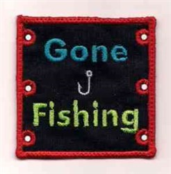 Gone Fishing Holster embroidery design