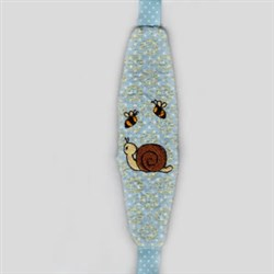 Snail Paci-Holder Front embroidery design