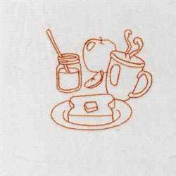 Breaktime Tea embroidery design