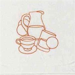 Tea and OJ embroidery design
