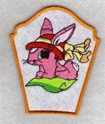 Bunny Bonnet Bowl Side embroidery design
