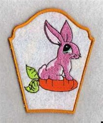 Bunny on Carrot Side embroidery design