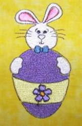 Egg Bunny Tales embroidery design