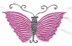 Wavey Butterfly embroidery design