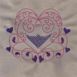 Color Line Heart embroidery design
