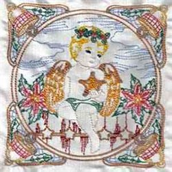 Christmas Angel Block embroidery design