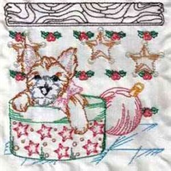 Christmas Puppy Block embroidery design