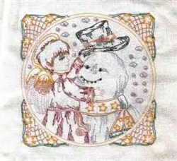 Decorating Angel Block embroidery design