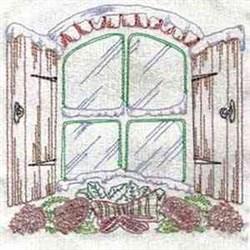 Christmas Window Block embroidery design