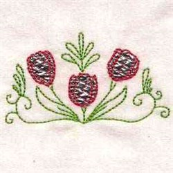 Color Line Tulips embroidery design