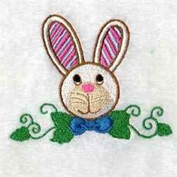 White Rabbit Head embroidery design