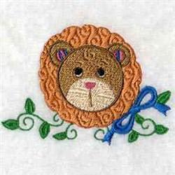 Cartoon Lion Head embroidery design