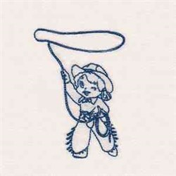 cowgirlsbl_010 embroidery design