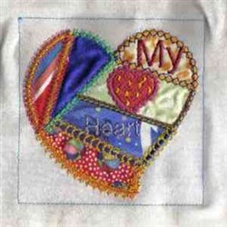 Applique My Heart embroidery design