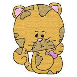 Cute Love Kitty embroidery design