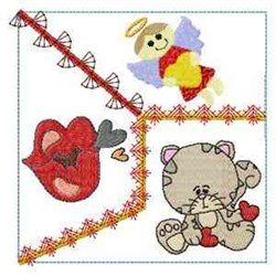 Crazy Love Kitty embroidery design