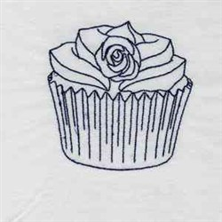 Cupcake Blues embroidery design