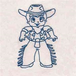 Ready Cowboy embroidery design