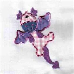 Applique Cute Dragon embroidery design