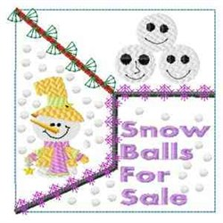 Snow Balls For Sale embroidery design