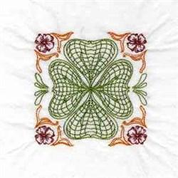 Colorwork Shamrock embroidery design