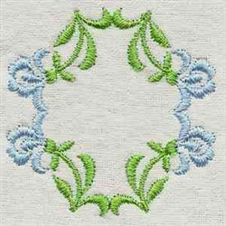 Dainty Runner Circle embroidery design