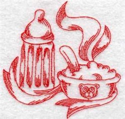 Baby Food Redwork embroidery design