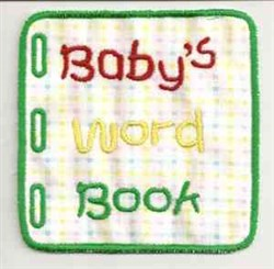 Babys Word Book embroidery design