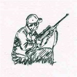Waiting Hunter embroidery design