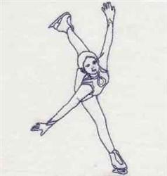 Bluework Male Skater embroidery design