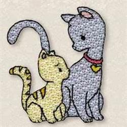 Looking Kitties embroidery design