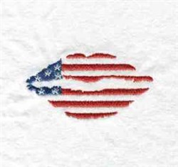 Americana Lips embroidery design