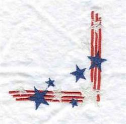 Stars & Stripes Corner embroidery design