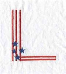 Patriotic Corner embroidery design