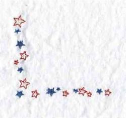 Scattered Stars Corner embroidery design