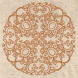 Indian Circle Block embroidery design