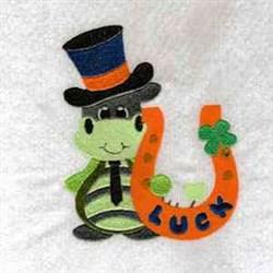Irish Luck Dragon embroidery design
