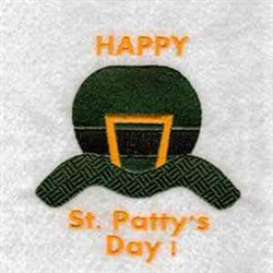 Happy St Pattys embroidery design