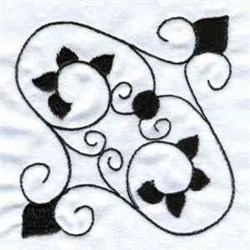 Scrolled Ironwork embroidery design