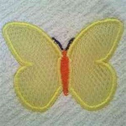 Applique Scrubby Butterfly embroidery design