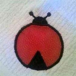 Applique Scrubby Ladybug embroidery design