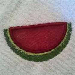 Applique Scrubby Watermelon embroidery design