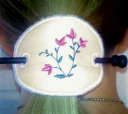 Floral Ponytail Cover embroidery design