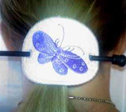 Butterfly Ponytail Cover embroidery design