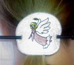 Angel Ponytail Cover embroidery design