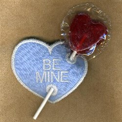 Be Mine Lolly Holder embroidery design