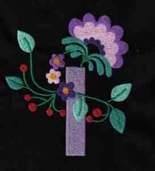 Jacobean Floral Vase embroidery design