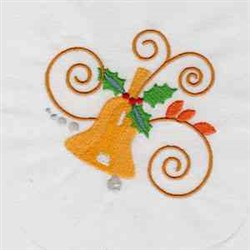 Jacobean Xmas Bell embroidery design